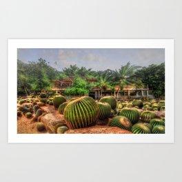 Cactus Garden Concept Art Art Print