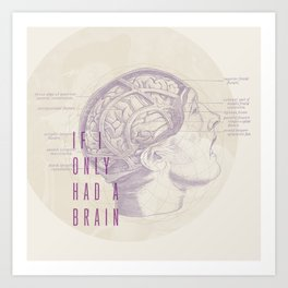If I Only Had A Brain Art Print
