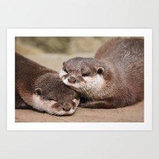 Otters 1 Art Print