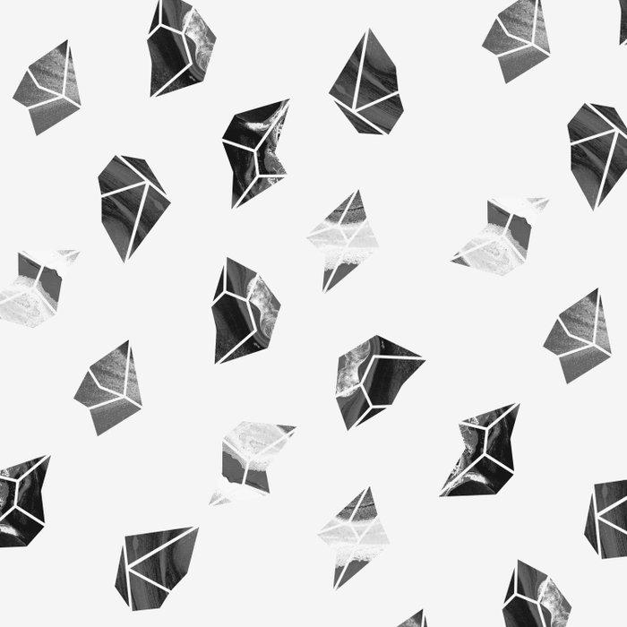Marble Fragments Duvet Cover