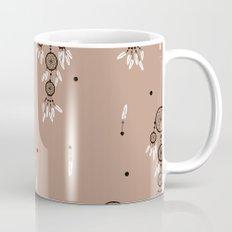 Dreamcatcher boho feathers pattern Mug
