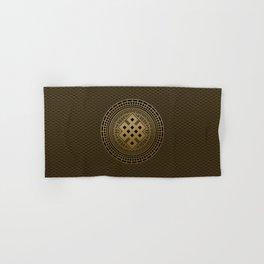 Gold Endless Knot  in Mandala Decorative Shape Hand & Bath Towel