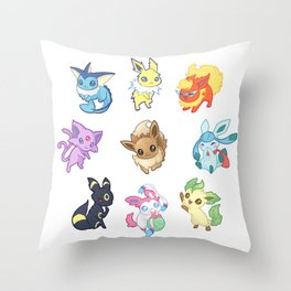 Colorful Evolutions Throw Pillow