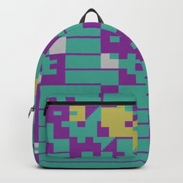 Abstract 8 Bit Art Backpack