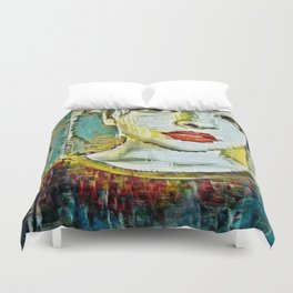Serendipity Beyond Smashed Mirrors Duvet Cover