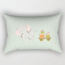 Christmas Elephant Rectangular Pillow
