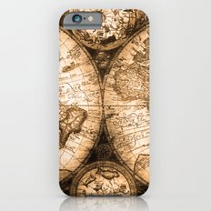 World Map Antique Vintage Maps iPhone 6 Slim Case