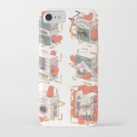 cigarettes iPhone & iPod Cases featuring Cigarettes Deluxe by Kensausage