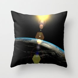 Planet Earth Throw Pillow