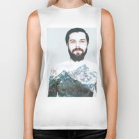 neil gaiman Biker Tanks featuring Simon Neil Mountains by madbiffymorghulis