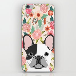 French Bulldog  floral dog head cute frenchies must have pure breed dog gifts iPhone Skin