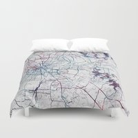 nashville Duvet Covers featuring Nashville by MapMapMaps.Watercolors