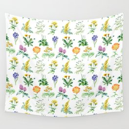 Seamless Herbs Pattern Wall Tapestry