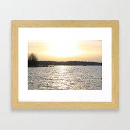 Kits Beach Sunset 2 Framed Art Print