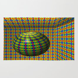 Colored pattern room with bowl Rug