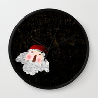 santa Wall Clocks featuring Santa  by Inmyfantasia