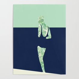 Back to the Beach (Watercolour Monstera) Poster