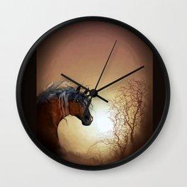 HORSE - Misty Wall Clock