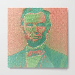 Pop Lincoln Metal Print
