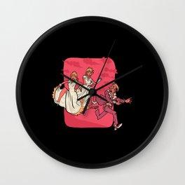 Groom Run Wedding Wall Clock