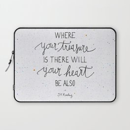Where your treasure is, there will your heart be also Laptop Sleeve