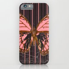 ANTIQUE GRUBY PINK BUTTERFLY ART Slim Case iPhone 6s