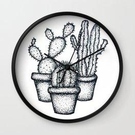 Mini Cactus Wall Clock