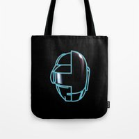 daft punk Tote Bags featuring Daft Punk by Jason Michael