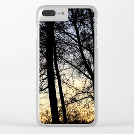Sunset on the forest Clear iPhone Case