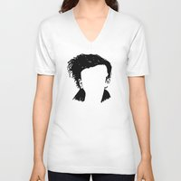 matty healy V-neck T-shirts featuring Matt Healy Silhuette Drawing by summergirl