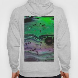 Abstract Green and Purple Hoody