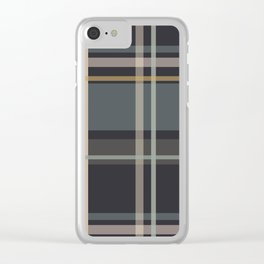 Midcentury Plaid Clear iPhone Case