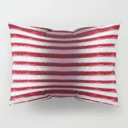 Red and White Organic Rib Cage Pillow Sham