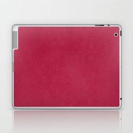 Modern girly magenta pink faux leather pattern Laptop & iPad Skin