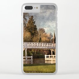 Whitchurch on Thames Toll Bridge Clear iPhone Case