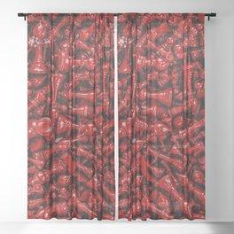 Bloody chess Sheer Curtain