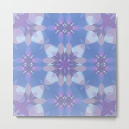 Pastel Pink and Blue Metal Print