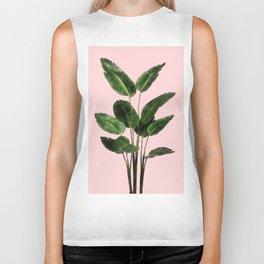 Bird of Paradise Plant on Pink Biker Tank