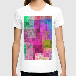 Abstract cubes T-shirt
