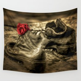 Shoes On The Danube Bank Art Wall Tapestry