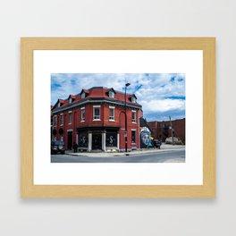 Little Burgundy Building Framed Art Print