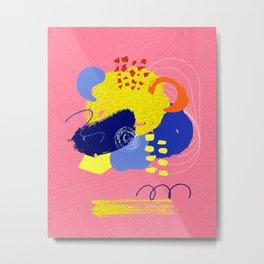 Bright pink abstrat Metal Print