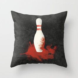 There Will Be Blood Movie Poster Bowling Pin Throw Pillow