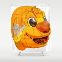 lantern Shower Curtains featuring Korean Lantern  by Benedict Middleton