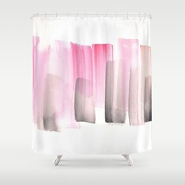 [161228] 25. Abstract Watercolour Color Study |Watercolor Brush Stroke Shower Curtain