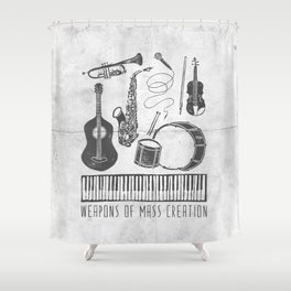 Weapons Of Mass Creation - Music (on paper) Shower Curtain