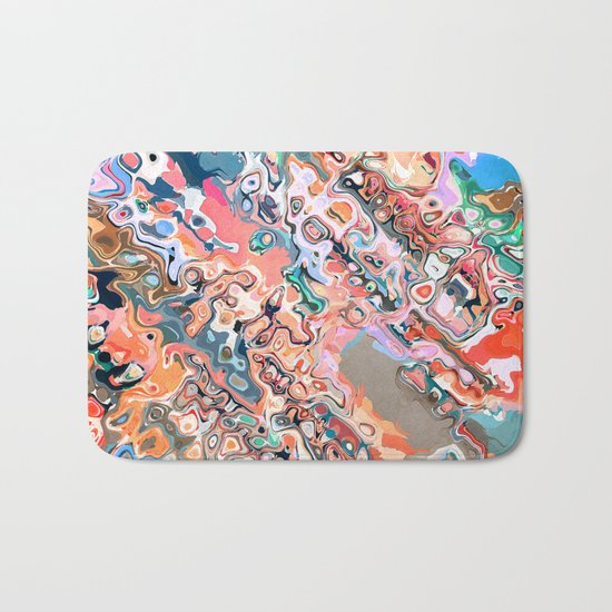 Colorful Textured Abstract  Bath Mat