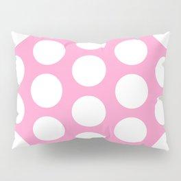 White circles on pink Pillow Sham