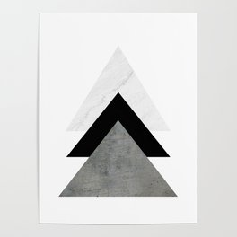 Arrows Monochrome Collage Poster