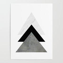 Arrows Monochrome Collage Poster